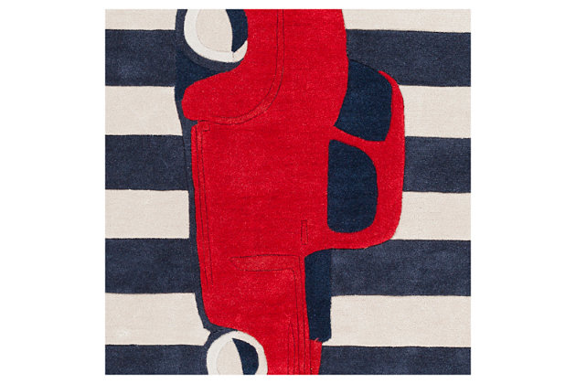 Home Accents Young Life 8' x 11' Rug, Red/White/Blue, large