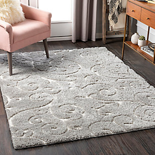 "Home Accent Beth 5'3"" x 7'3"" Area Rug, Black/Gray, rollover"