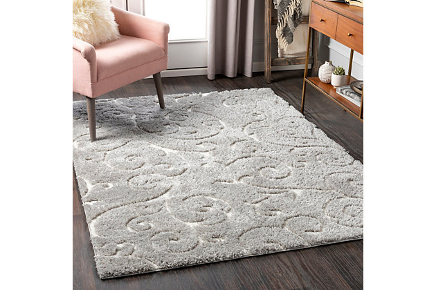 "Home Accent Beth 5'3"" x 7'3"" Area Rug, Black/Gray, large"