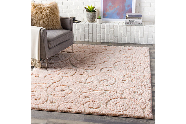 """Home Accent Beth 5'3"""" x 7'3"""" Area Rug, Red/Burgundy, large"""