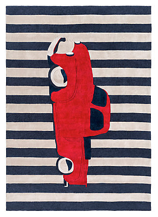 Home Accents Young Life 8' x 11' Rug, Red/White/Blue, rollover