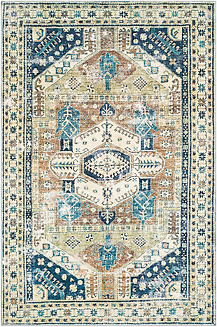 "Home Accent Langden 5' x 7'6"" Area Rug, Blue, large"