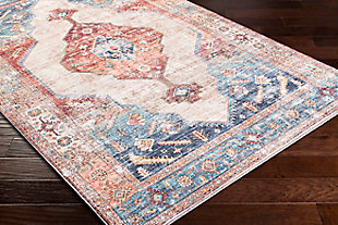 "Home Accent Langden 5' x 7'6"" Area Rug, Blue, rollover"