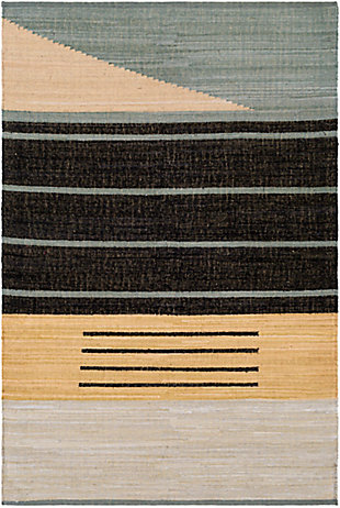 "Home Accent Marguerita 5' x 7'6"" Area Rug, Black/Gray, large"