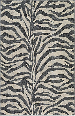 "Home Accent Robin 5'3"" x 7'3"" Area Rug, Black/Gray, large"