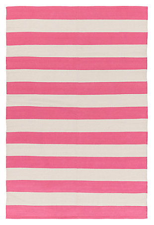 "Home Accents Artistic Weavers City Park Lauren Rug 2'6"" x 10', Pink/Cream, large"