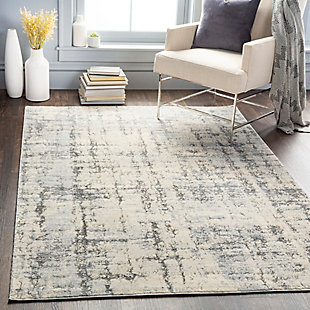 "Home Accent Hobert 5'3"" x 7'3"" Area Rug, Black/Gray, rollover"