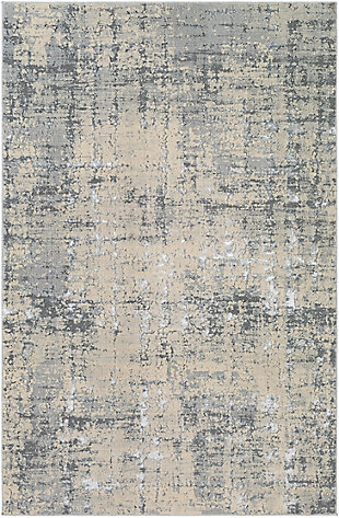 "Home Accent Hobert 5'3"" x 7'3"" Area Rug, Black/Gray, large"