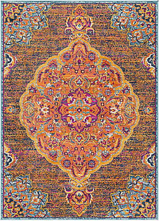 "Surya Floransa 5'3"" x 7'1"" Area Rug, Orange, large"