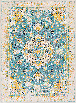 "Surya Floransa 5'3"" x 7'1"" Area Rug, Yellow, large"
