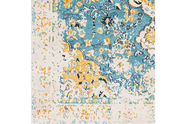 "Surya Floransa 5'3"" x 7'1"" Area Rug, Yellow, large"