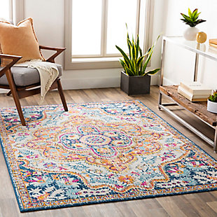 "Surya Floransa 5'3"" x 7'1"" Area Rug, Orange, rollover"