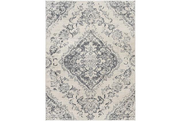 "Surya Floransa 5'3"" x 7'1"" Area Rug, Black/Gray, large"