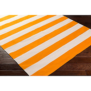 "Home Accents Artistic Weavers City Park Lauren Rug 2'6"" x 12', Orange/White, rollover"
