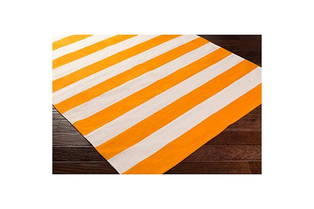 """Home Accents Artistic Weavers City Park Lauren Rug 2'6"""" x 12', Orange/White, large"""
