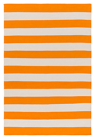 "Home Accents Artistic Weavers City Park Lauren Rug 2'6"" x 12', Orange/White, large"