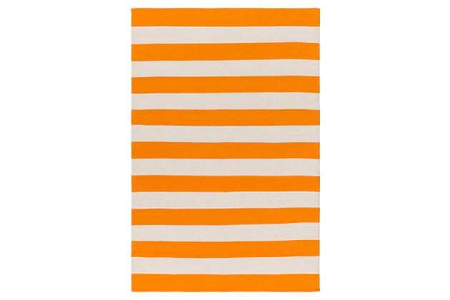 Home Accents Artistic Weavers City Park Lauren Rug 2' x 3', Orange/White, large