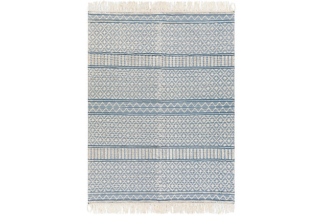 Home Accent Gory 8' x 10' Area Rug, Blue, large