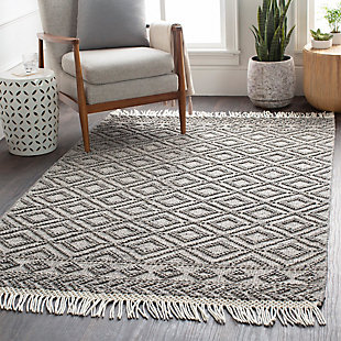 "Home Accent Tolar 5' x 7'6"" Area Rug, Black/Gray, rollover"