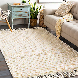 "Home Accent Samsel 5' x 7'6"" Area Rug, Brown/Beige, rollover"