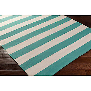 "Home Accents Artistic Weavers City Park Lauren Rug 2'6"" x 12', Teal/White, rollover"
