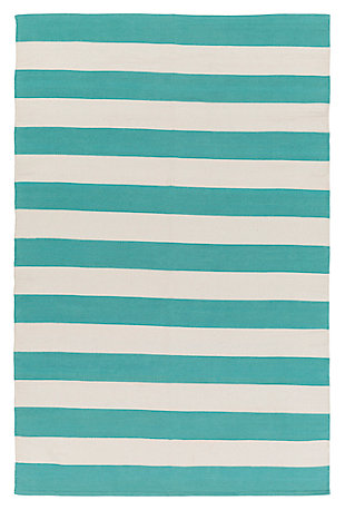 "Home Accents Artistic Weavers City Park Lauren Rug 2'6"" x 12', Teal/White, large"