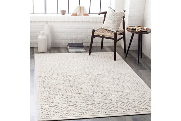 """Home Accent Osby 5'3"""" x 7'3"""" Area Rug, Brown/Beige, large"""