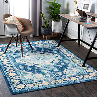 "Home Accent Bowne 5'3"" x 7'3"" Area Rug, Blue, rollover"