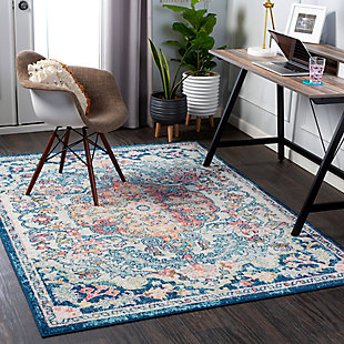 "Home Accent Delara 5'3"" x 7'3"" Area Rug, Blue, rollover"