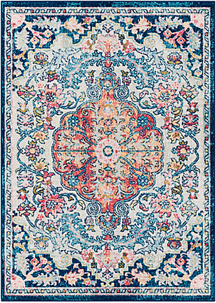 "Home Accent Delara 5'3"" x 7'3"" Area Rug, Blue, large"