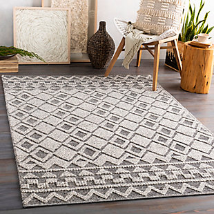 "Home Accent Roman 5' x 7'6"" Area Rug, Black/Gray, rollover"