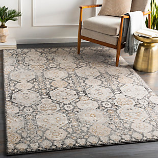"Home Accent Nordin 5'3"" x 7'3"" Area Rug, Black/Gray, rollover"