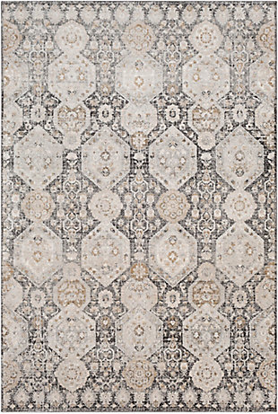 "Home Accent Nordin 5'3"" x 7'3"" Area Rug, Black/Gray, large"