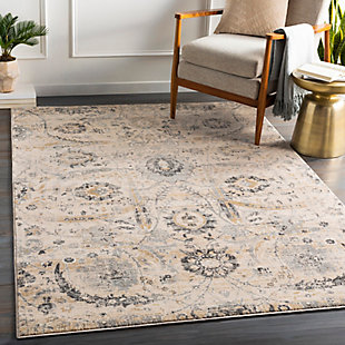 "Home Accent Heron 5'3"" x 7'3"" Area Rug, Black/Gray, rollover"