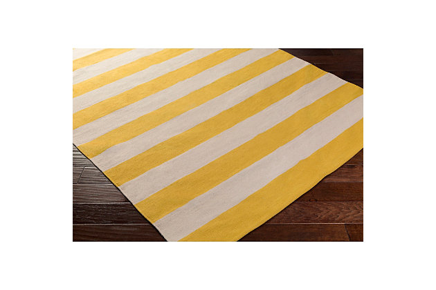 """Home Accents Artistic Weavers City Park Lauren Runner 2'6"""" x 12', Yellow/White, large"""