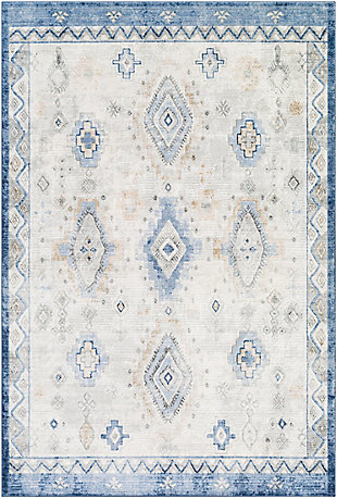 """Home Accent Dewitt 5'3"""" x 7'3"""" Area Rug, Blue, large"""