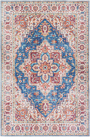 """Home Accent Greenburg 5' x 7'6"""" Area Rug, Blue, large"""