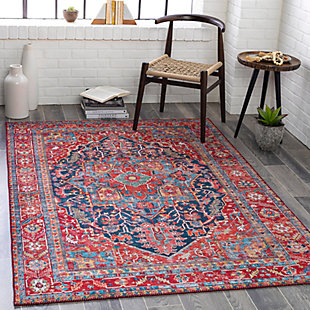 """Home Accent Heger 5' x 7'6"""" Area Rug, Blue, rollover"""