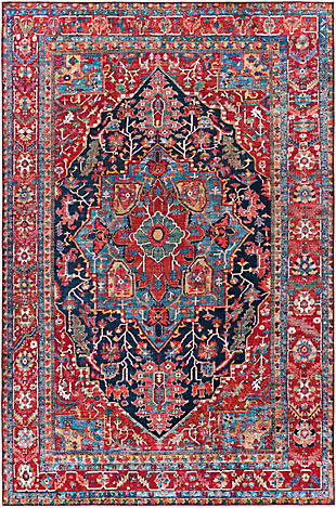 """Home Accent Heger 5' x 7'6"""" Area Rug, Blue, large"""