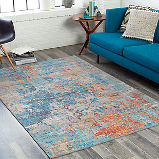 """Home Accent Koran 5' x 7'6"""" Area Rug, Blue, rollover"""