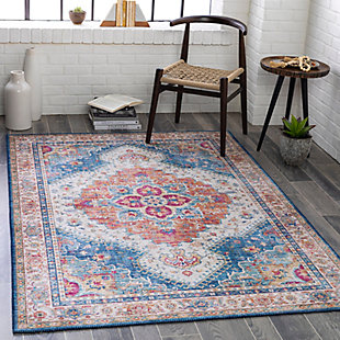 """Home Accent Griffing 5' x 7'6"""" Area Rug, Blue, rollover"""
