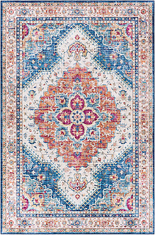 """Home Accent Griffing 5' x 7'6"""" Area Rug, Blue, large"""