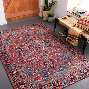 "Home Accent Burbach 5' x 7'6"" Area Rug, Red/Burgundy, rollover"