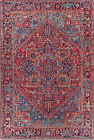 "Home Accent Burbach 5' x 7'6"" Area Rug, Red/Burgundy, large"