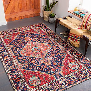 """Home Accent Goshorn 5' x 7'6"""" Area Rug, Red/Burgundy, rollover"""