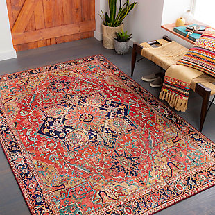 """Home Accent Korte 5' x 7'6"""" Area Rug, Red/Burgundy, rollover"""