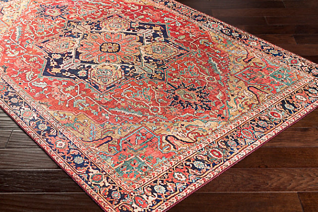 """Home Accent Korte 5' x 7'6"""" Area Rug, Red/Burgundy, large"""