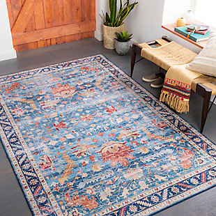 "Home Accent Giuliani 5' x 7'6"" Area Rug, Blue, rollover"