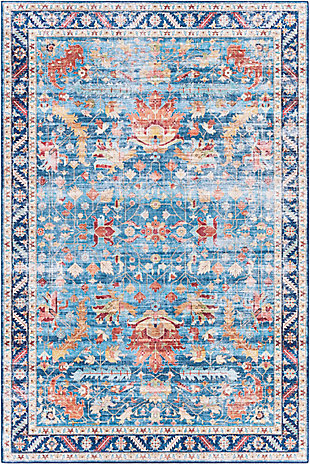 "Home Accent Giuliani 5' x 7'6"" Area Rug, Blue, large"