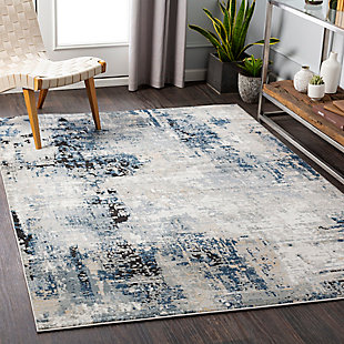 "Home Accent Bizzell 5'3"" x 7'3"" Area Rug, Blue, rollover"
